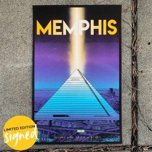 LIMITED EDITION Memphis City Pyramid Silk Screen SIGNED by Mitchell Dunnam
