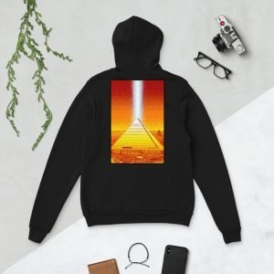 Memphis Pyramid Unisex Pullover Hoodie by Mitchell Dunnam – Back Print
