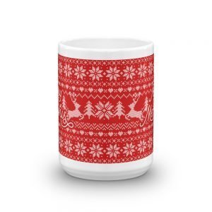 Merry Memphis Sweater Mug in Red Christmas