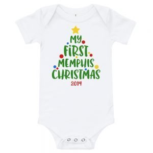 My First Memphis Christmas Baby Onesie 2019
