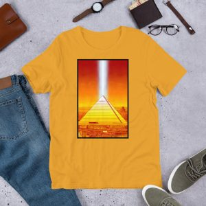 Memphis Pyramid Unisex Tee by Mitchell Dunnam