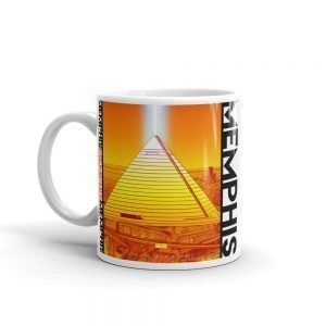 Memphis City Pyramid Coffee Mug Orange – Mitchell Dunnam